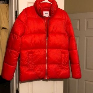 Old Navy red puffed Jacket. (Worn Once)